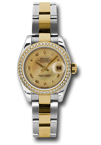Rolex Watches - Datejust Lady - Steel and Gold Yellow Gold - 46 Dia Bezel - Oyster - Style No: 179383 chmdro