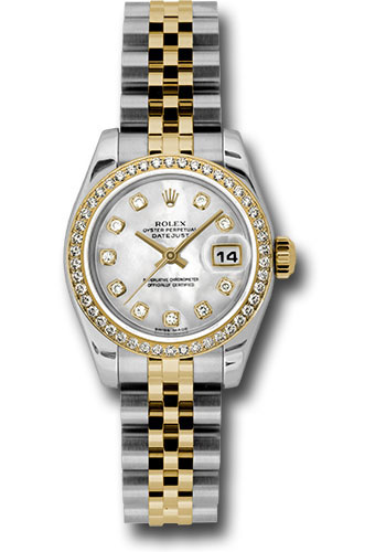 Rolex Watches - Datejust Lady - Steel and Gold Yellow Gold - 46 Dia Bezel - Jubilee - Style No: 179383 mdj
