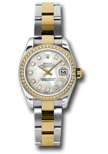 Rolex Watches - Datejust Lady - Steel and Gold Yellow Gold - 46 Dia Bezel - Oyster - Style No: 179383 mdo