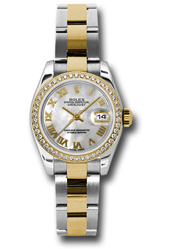 Rolex Watches - Datejust Lady - Steel and Gold Yellow Gold - 46 Dia Bezel - Oyster - Style No: 179383 mro