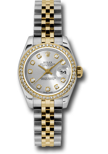 Rolex Watches - Datejust Lady - Steel and Gold Yellow Gold - 46 Dia Bezel - Jubilee - Style No: 179383 sdj