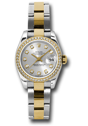 Rolex Watches - Datejust Lady - Steel and Gold Yellow Gold - 46 Dia Bezel - Oyster - Style No: 179383 sdo