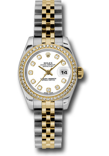 Rolex Watches - Datejust Lady - Steel and Gold Yellow Gold - 46 Dia Bezel - Jubilee - Style No: 179383 wdj