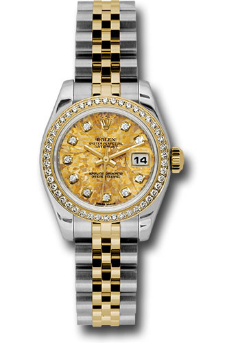 Rolex Watches - Datejust Lady - Steel and Gold Yellow Gold - 46 Dia Bezel - Jubilee - Style No: 179383 ygcdj