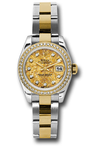Rolex Watches - Datejust Lady - Steel and Gold Yellow Gold - 46 Dia Bezel - Oyster - Style No: 179383 ygcdo