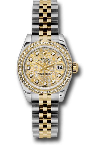 Rolex Watches - Datejust Lady - Steel and Gold Yellow Gold - 46 Dia Bezel - Jubilee - Style No: 179383 ygjcdj