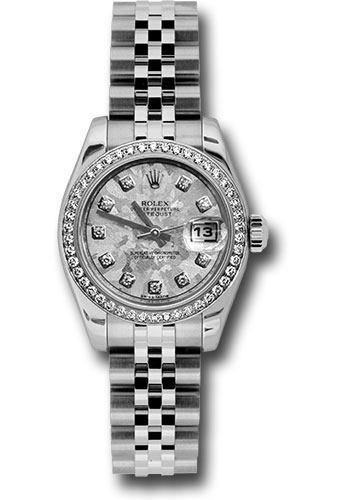 Rolex Watches - Datejust Lady - Steel 46 Diamond Bezel - Jubilee Bracelet - Style No: 179384 gcdj