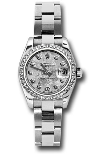 Rolex Watches - Datejust Lady - Steel 46 Diamond Bezel - Oyster Bracelet - Style No: 179384 gcdo