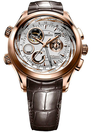 Zenith Watches - El Primero Traveller Multicity Alarm Rose Gold - Style No: 18.0520.4046/02.C682