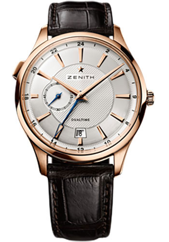 Zenith Watches - Captain Dual Time Rose Gold - Style No: 18.2130.682/02.C498
