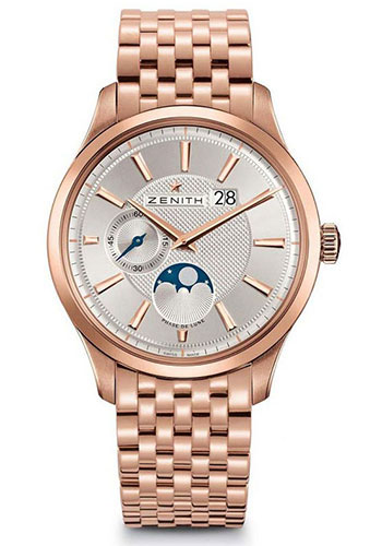 Zenith Watches - Captain Moonphase Rose Gold - Style No: 18.2140.691/02.M2140