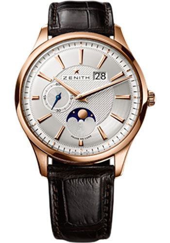 Zenith Watches - Elite Captain Moonphase Rose Gold - Style No: 18.2140.691/02.C498