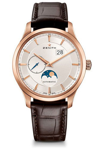 Zenith Watches - Captain Moonphase Rose Gold - Style No: 18.2143.691/01.C498