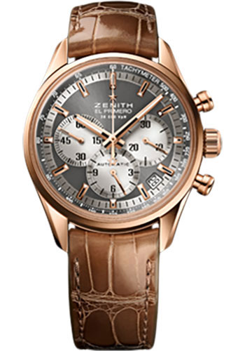 Zenith Watches - El Primero Lady 36'000 VPH - 38mm Rose Gold - Style No: 18.2150.400/21.C709