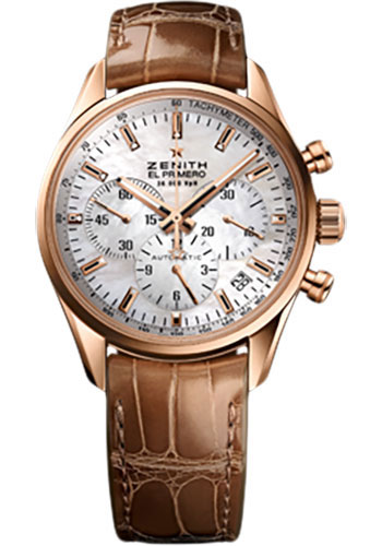 Zenith Watches - El Primero Lady 36'000 VPH - 38mm Rose Gold - Style No: 18.2150.400/82.C709