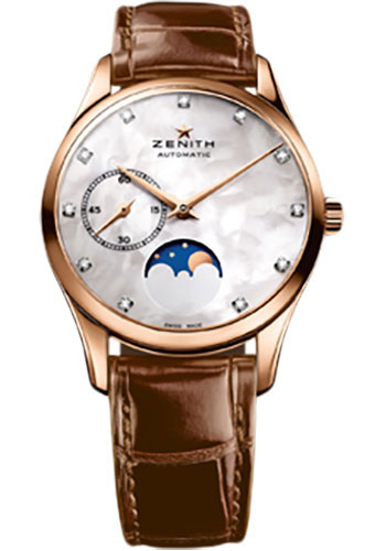 Zenith Watches - Elite Lady Ultra Thin Moonphase Rose Gold - Style No: 18.2310.692/81.C709