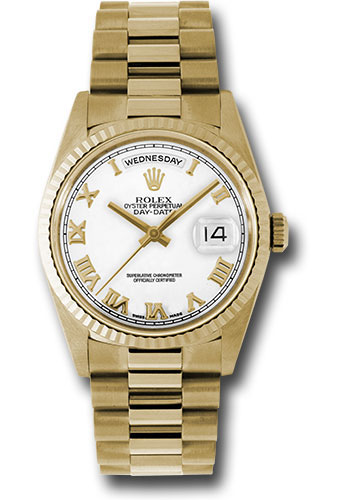 Pre-Owned Rolex Watches - Day-Date President Yellow Gold - Fluted Bezel - President - Style No: V18238wr