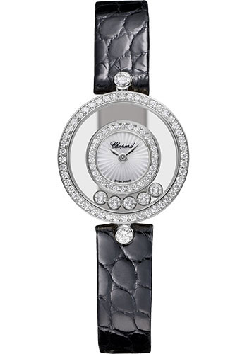Chopard Watches - Happy Diamonds Icons - 25.80mm - White Gold - Style No: 203957-1214