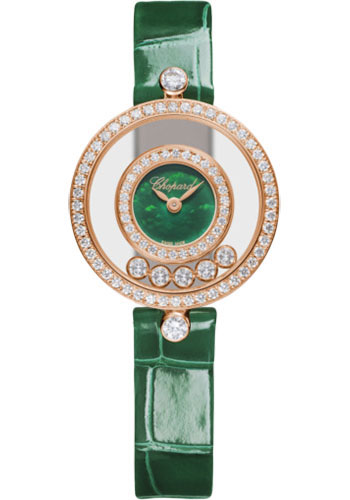 Chopard Watches - Happy Diamonds Icons - 25.80mm - Rose Gold - Style No: 203957-5209