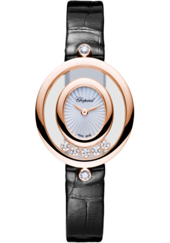 Chopard Watches - Happy Diamonds Oval - 25.80mm - Rose Gold - Style No: 204305-5301