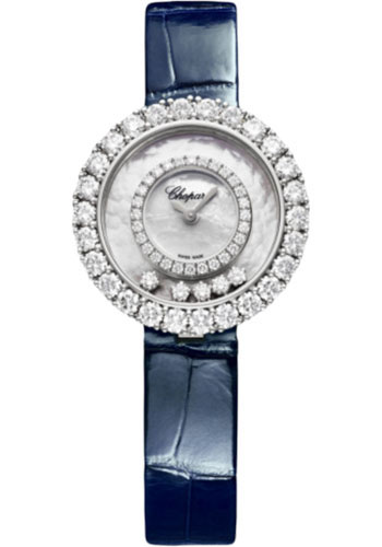 Chopard Watches - Happy Diamonds Joaillerie - 28.60mm - White Gold - Style No: 205369-1001