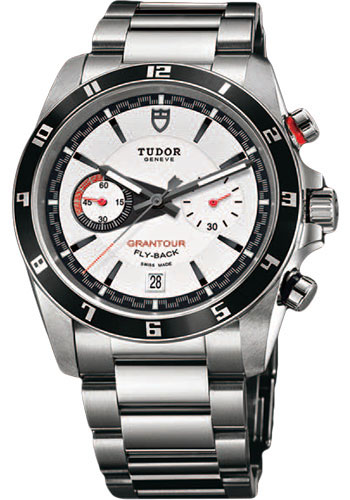 Tudor Watches - Grantour Chrono Fly-Back Stainless Steel - Bracelet - Style No: 20550N-95730-white