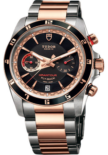 Tudor Watches - Grantour Chrono Fly-Back Stainless Steel and Pink Gold - Style No: 20551N-95731