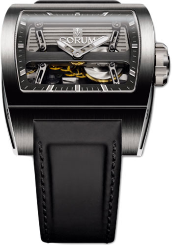 Corum Watches - Ti-Bridge Automatic Dual Winder - Titanium - Style No: 207.201.04/0F61 0000