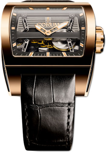 Corum Watches - Ti-Bridge Automatic Dual Winder - Red Gold - Style No: 207.201.05/0F01 0000