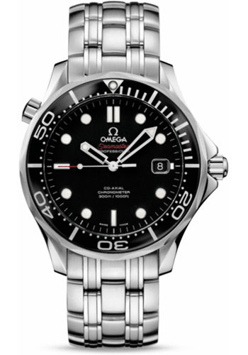 Omega Watches - Seamaster Diver 300 M Co-Axial 41 mm - Stainless Steel - Style No: 212.30.41.20.01.003