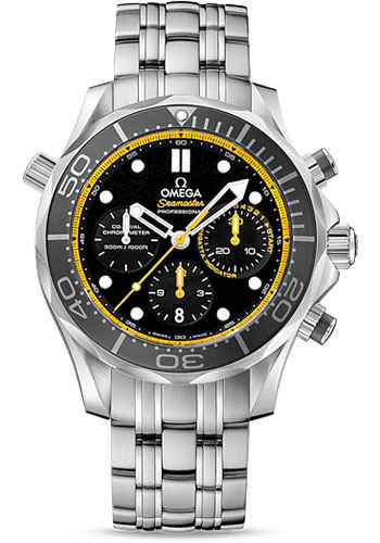 Omega Watches - Seamaster Diver 300 M Co-Axial Chronograph 44 mm - Style No: 212.30.44.50.01.002