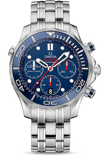 Omega Watches - Seamaster Diver 300 M Co-Axial Chronograph 44 mm - Style No: 212.30.44.50.03.001