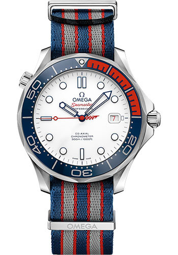 Omega Watches - Seamaster Diver 300 M Co-Axial 41 mm - Stainless Steel - James Bond - Style No: 212.32.41.20.04.001