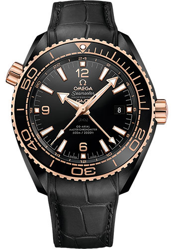 Omega Watches - Seamaster Planet Ocean 600M Co-Axial GMT 45.5 mm - Black Ceramic - Style No: 215.63.46.22.01.001