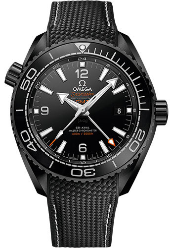 Omega Watches - Seamaster Planet Ocean 600 M Co-Axial GMT 45.5 mm - Black Ceramic - Style No: 215.92.46.22.01.001