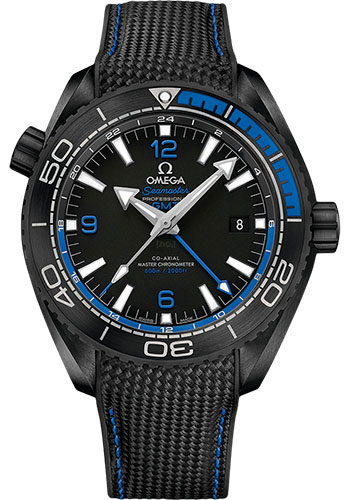 Omega Watches - Seamaster Planet Ocean 600 M Co-Axial GMT 45.5 mm - Black Ceramic - Style No: 215.92.46.22.01.002