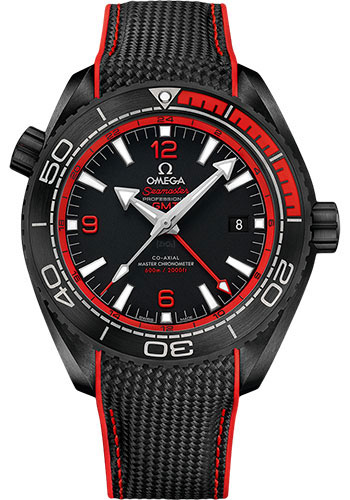 Omega Watches - Seamaster Planet Ocean 600 M Co-Axial GMT 45.5 mm - Black Ceramic - Style No: 215.92.46.22.01.003