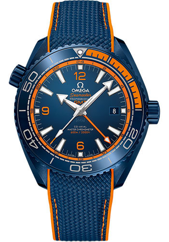 Omega Watches - Seamaster Planet Ocean 600 M Master Co-Axial GMT 45.5 mm - Blue Ceramic - Style No: 215.92.46.22.03.001