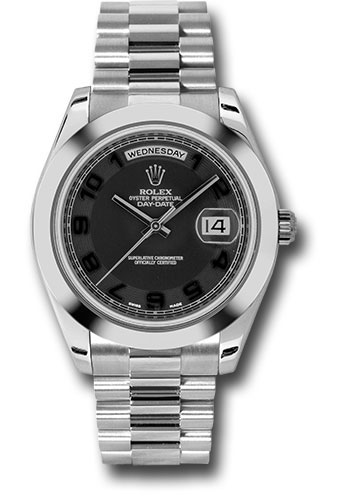 Rolex Watches - Day-Date II President Platinum - Polished Bezel - Style No: 218206 bkcap