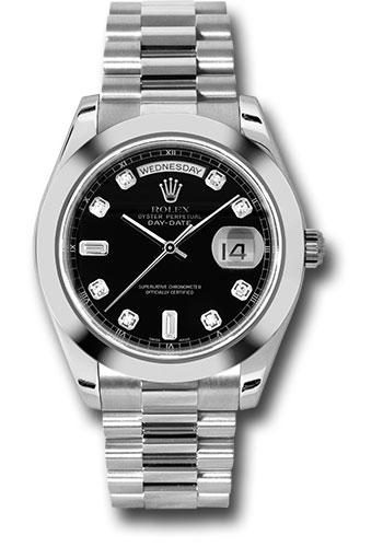 Rolex Watches - Day-Date II President Platinum - Polished Bezel - Style No: 218206 bkdp