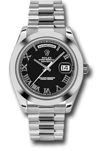 Rolex Watches - Day-Date II President Platinum - Polished Bezel - Style No: 218206 bkrp