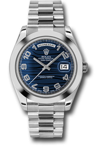 Rolex Watches - Day-Date II President Platinum - Polished Bezel - Style No: 218206 blwap