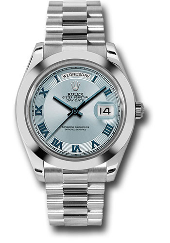 Rolex Watches - Day-Date II President Platinum - Polished Bezel - Style No: 218206 ibcrp