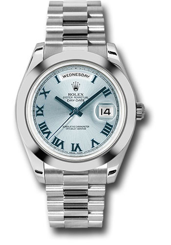 Rolex Watches - Day-Date II President Platinum - Polished Bezel - Style No: 218206 iblblrp