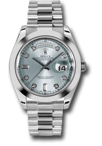 Rolex Watches - Day-Date II President Platinum - Polished Bezel - Style No: 218206 ibldp