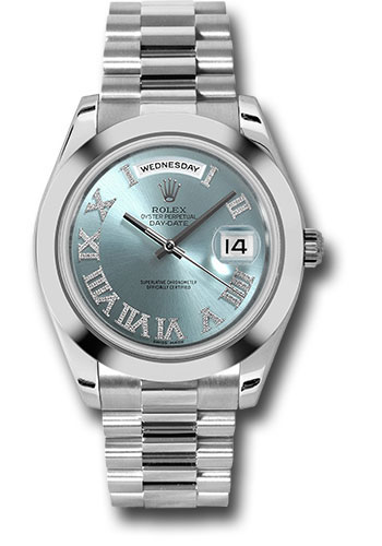 Rolex Watches - Day-Date II President Platinum - Polished Bezel - Style No: 218206 ibldrp