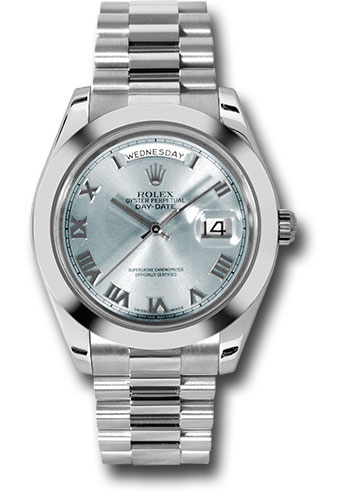 Rolex Watches - Day-Date II President Platinum - Polished Bezel - Style No: 218206 iblrp