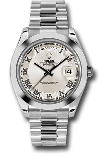 Rolex Watches - Day-Date II President Platinum - Polished Bezel - Style No: 218206 icrp