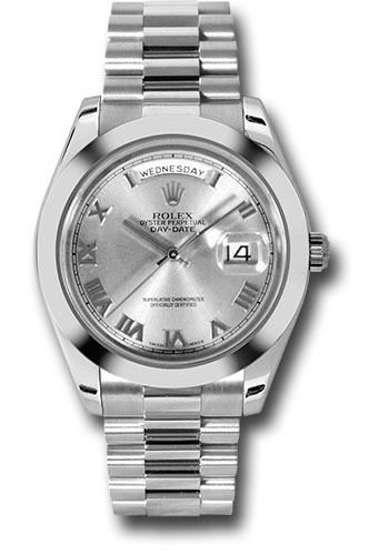 Rolex Watches - Day-Date II President Platinum - Polished Bezel - Style No: 218206 rrp
