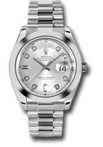 Rolex Watches - Day-Date II President Platinum - Polished Bezel - Style No: 218206 sdp